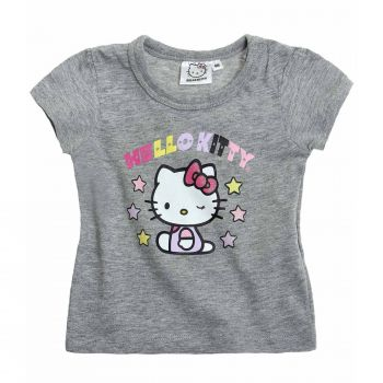 Hello Kitty Tshirt, Glitzerdruck, grau, Gr. 62-92