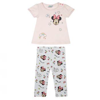 Gr 62-92 Disney Bambi Set: Kleid mit Leggings Glitzerdruck grau-pink
