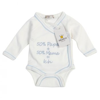 "50-62 Milarda Baby Body Wickelbody /""I love mama/"" Gr creme"