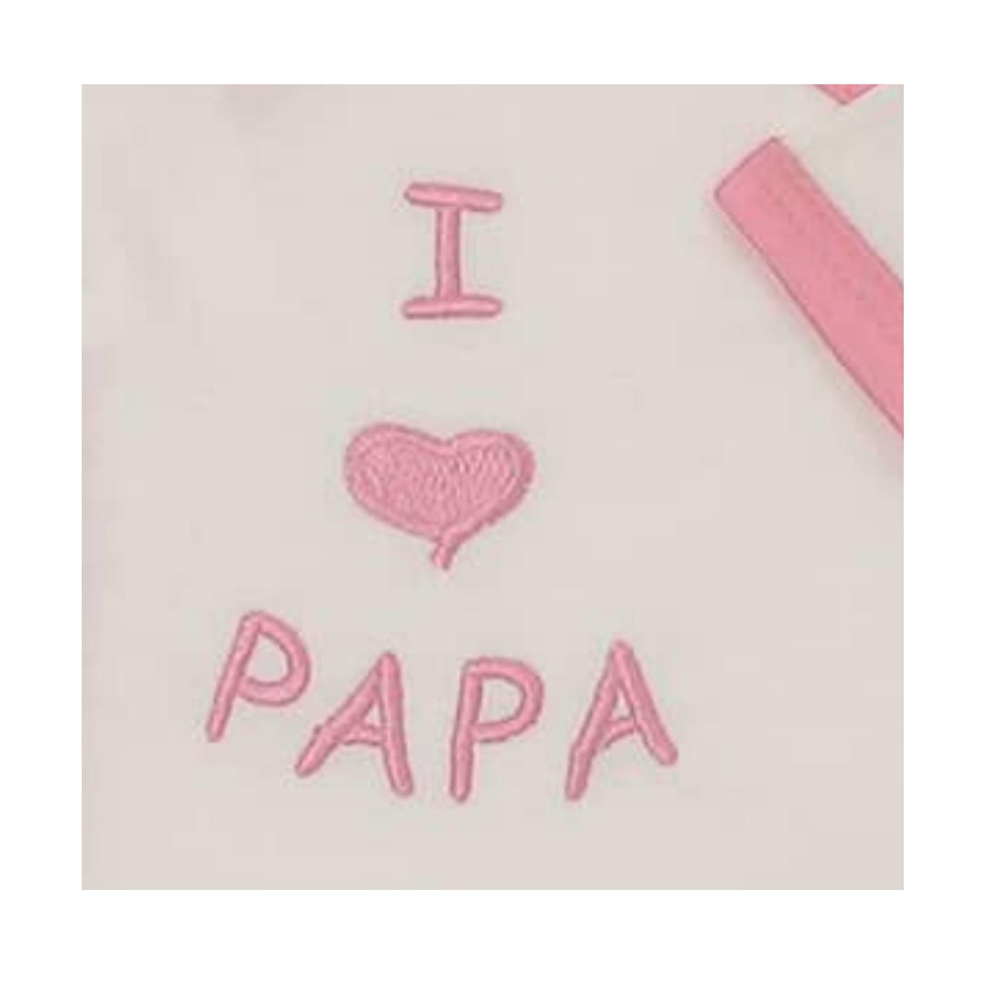 "50-74 Milarda Baby Body Wickelbody /""I love PAPA/"" Gr creme-rosa"