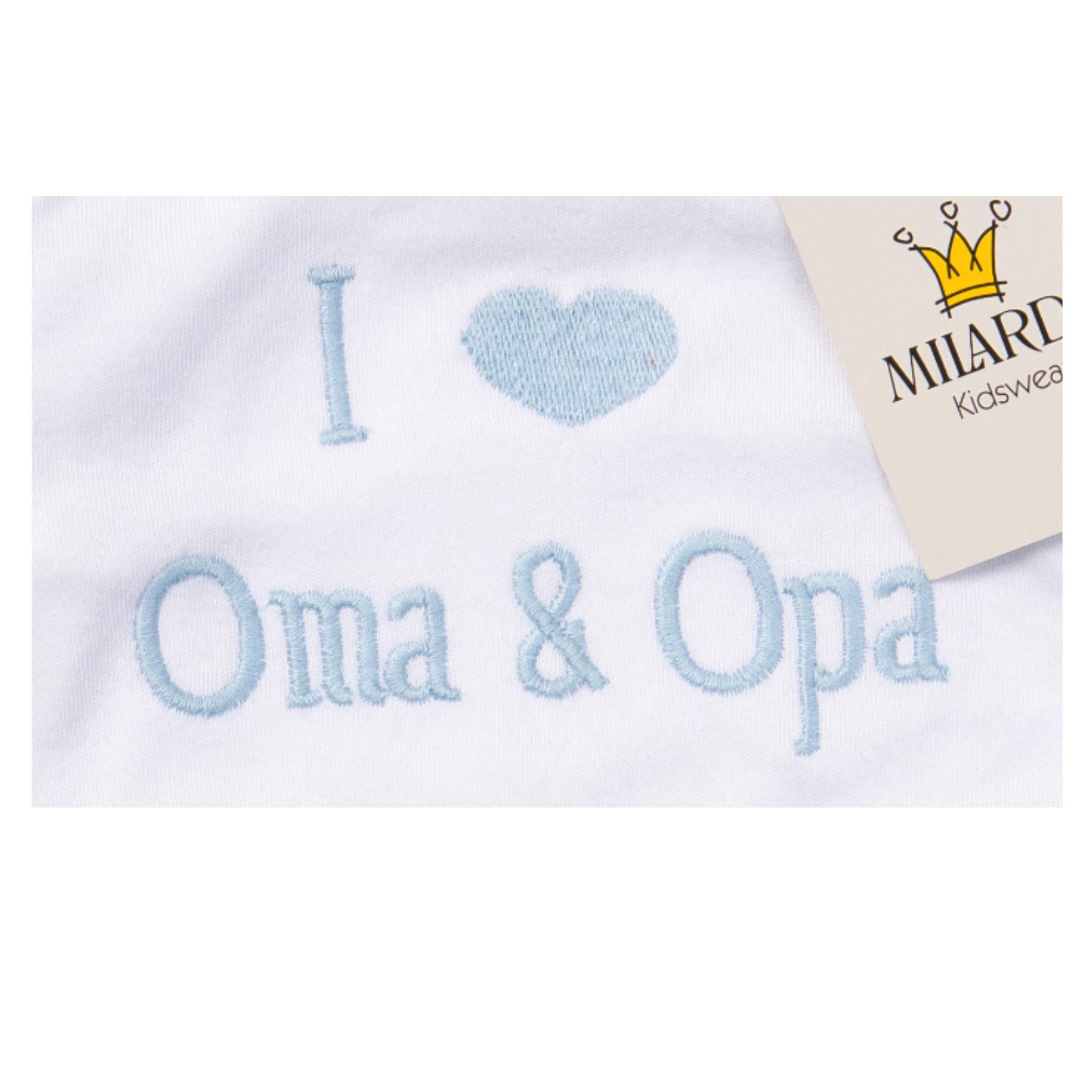 Milarda Baby Set Strampler mit Body I Love Oma /& Opa