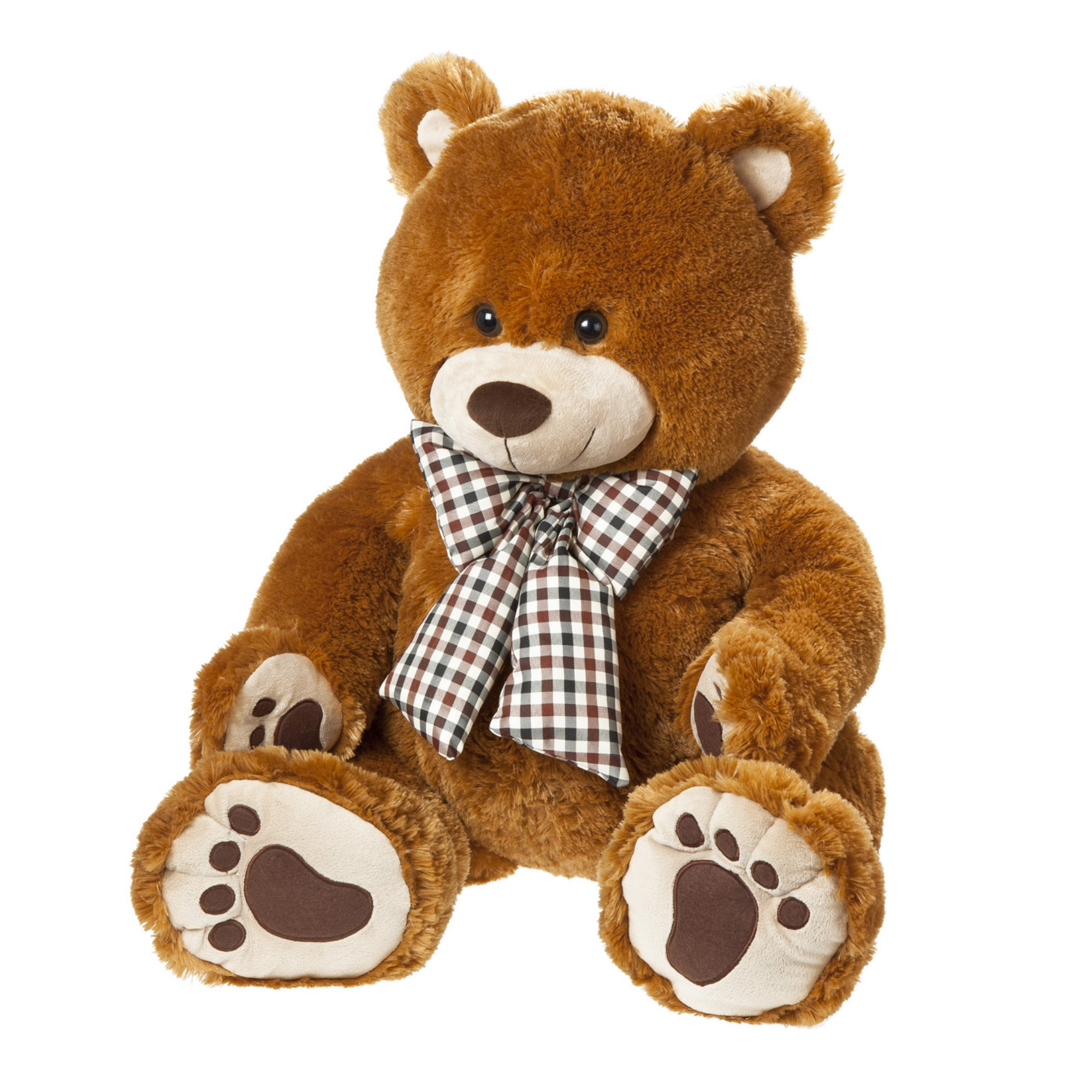 rainbowpalace baby und kindermode heunec pummel b r mit tatzen teddy pl sch 90 cm braun. Black Bedroom Furniture Sets. Home Design Ideas