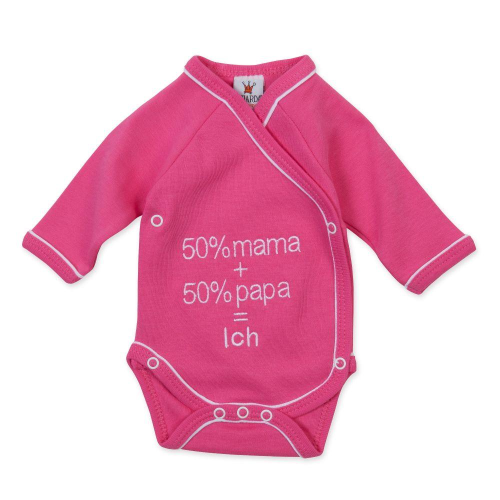 """pink Gr 50-62 Milarda Baby Body Wickelbody /""""50/% mama 50/% papa = Ich/"""""""